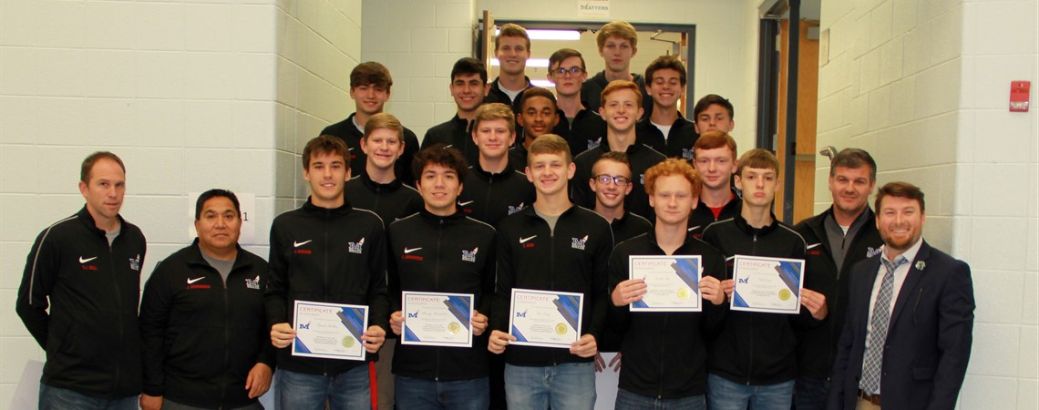 The MCHS Boys' Soccer Team was recognized at  November's board meeting for winning their eighth consecutive district championship, claiming the 10th Region title and participating in the state tournament this season.