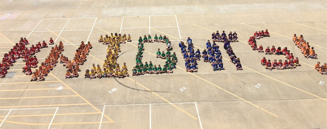 Northview students spell out KNIGHTS!