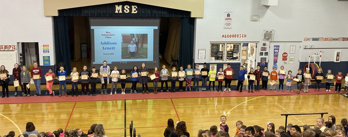 October Student of the Month Celebration