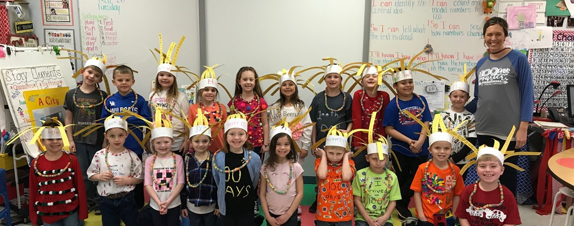 Mrs. Brownlee's 1st Grade Class 100th Day of School