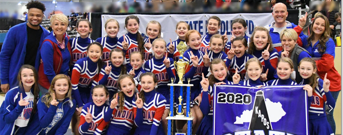 Cheerleaders are two-time state champs!