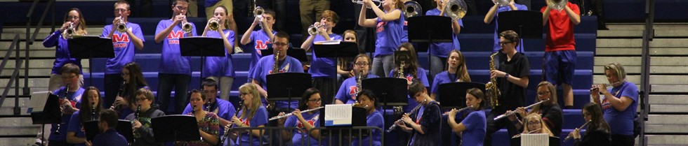 MCHS Band playing during the Blue/White Basketball Scrimmage.