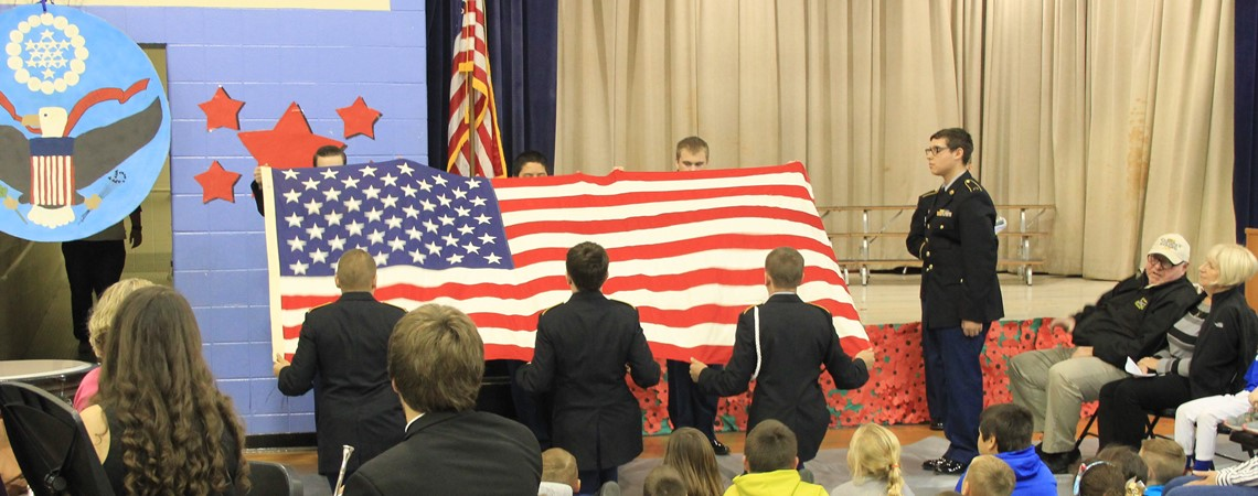 Veterans Day Ceremony at Mapleton.