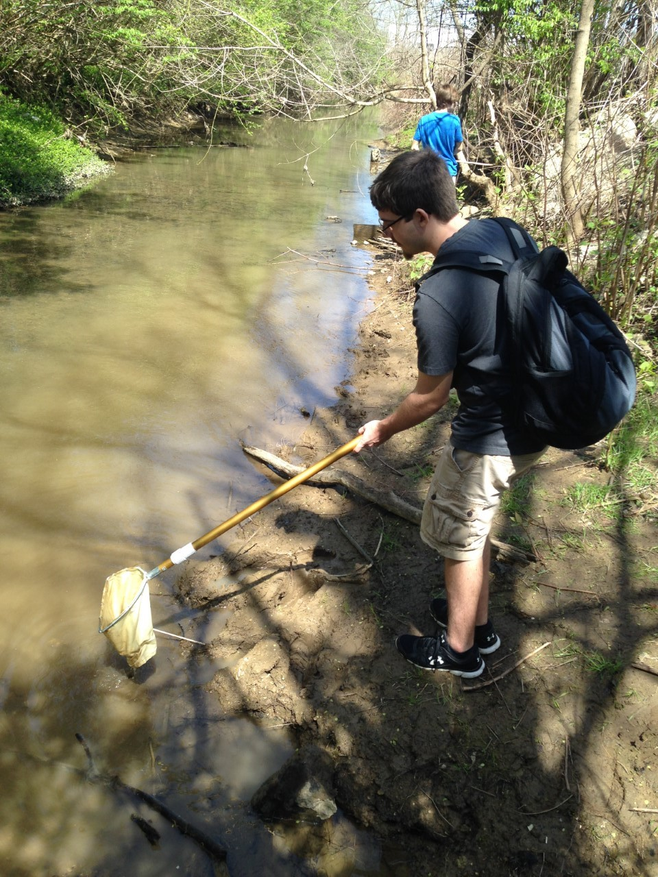 Mr. Setters' Conservation Biology class makes periodic trips to Hinkston creek to perform a stream assessment by collecting and identifying a wide array of macro-vertebrates.