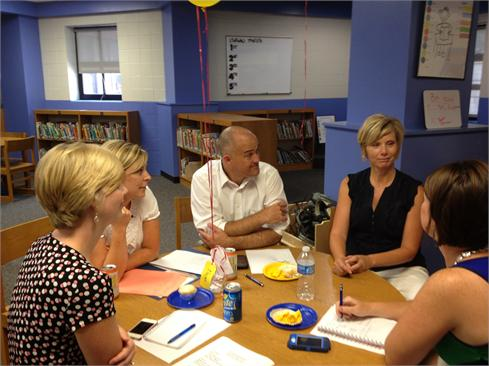 June 30th marked the Intermediate School's first EVER faculty meeting!  Teachers were informed of their subject area and team assignment...and the work began in preparation for an awesome upcoming year!