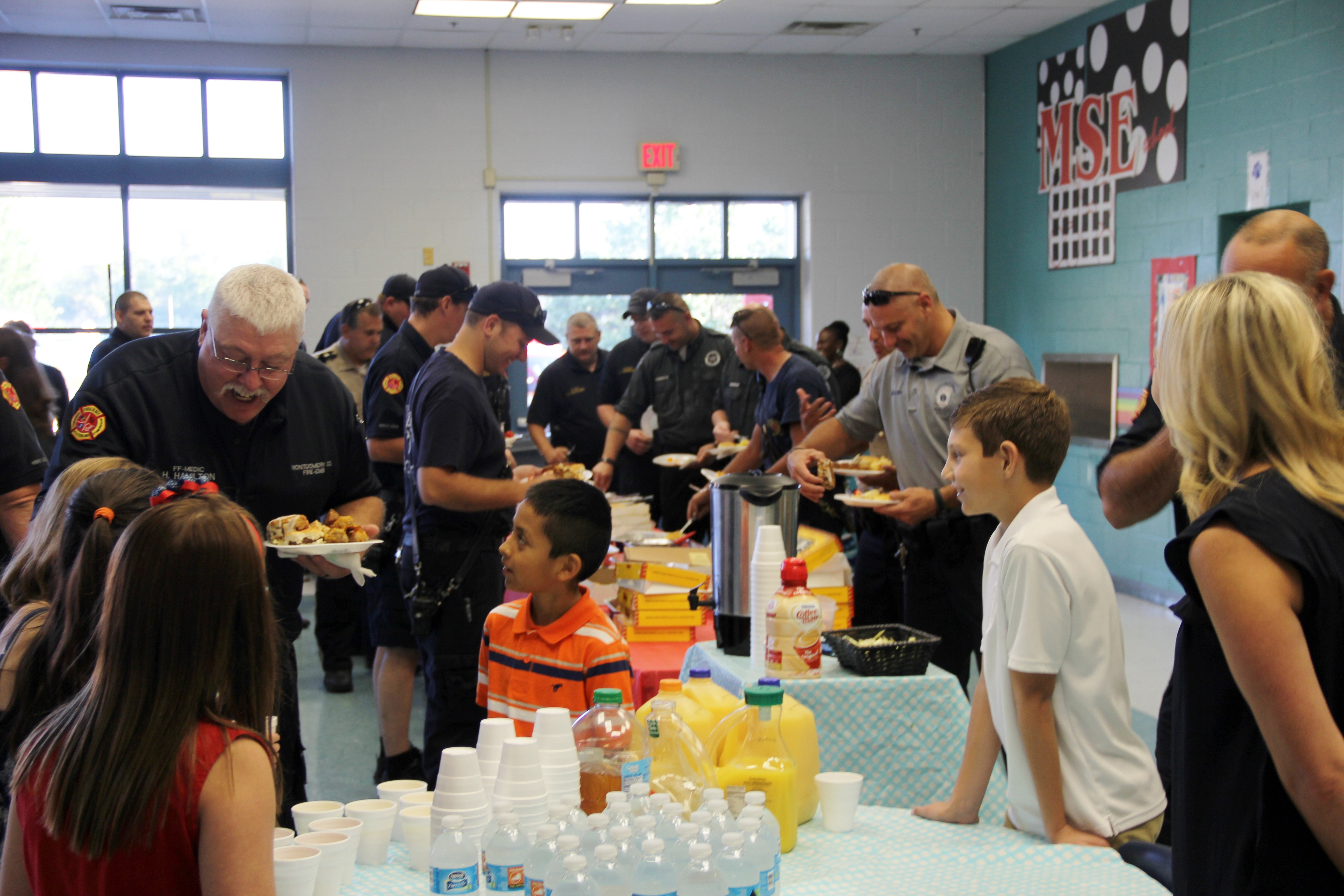 "MSE participated in ""Adopt an Officer/Community Helper"" and held a breakfast for first responders."