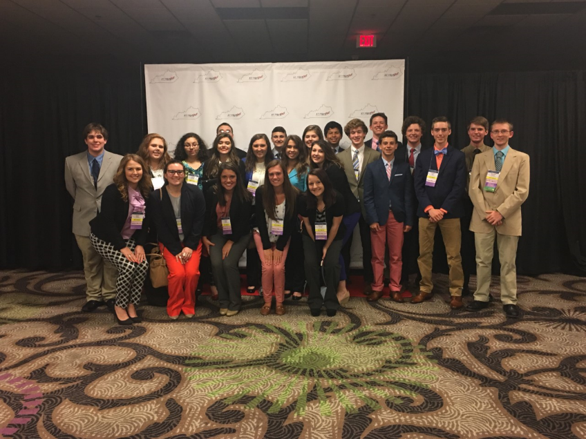 FBLA students competing at state.