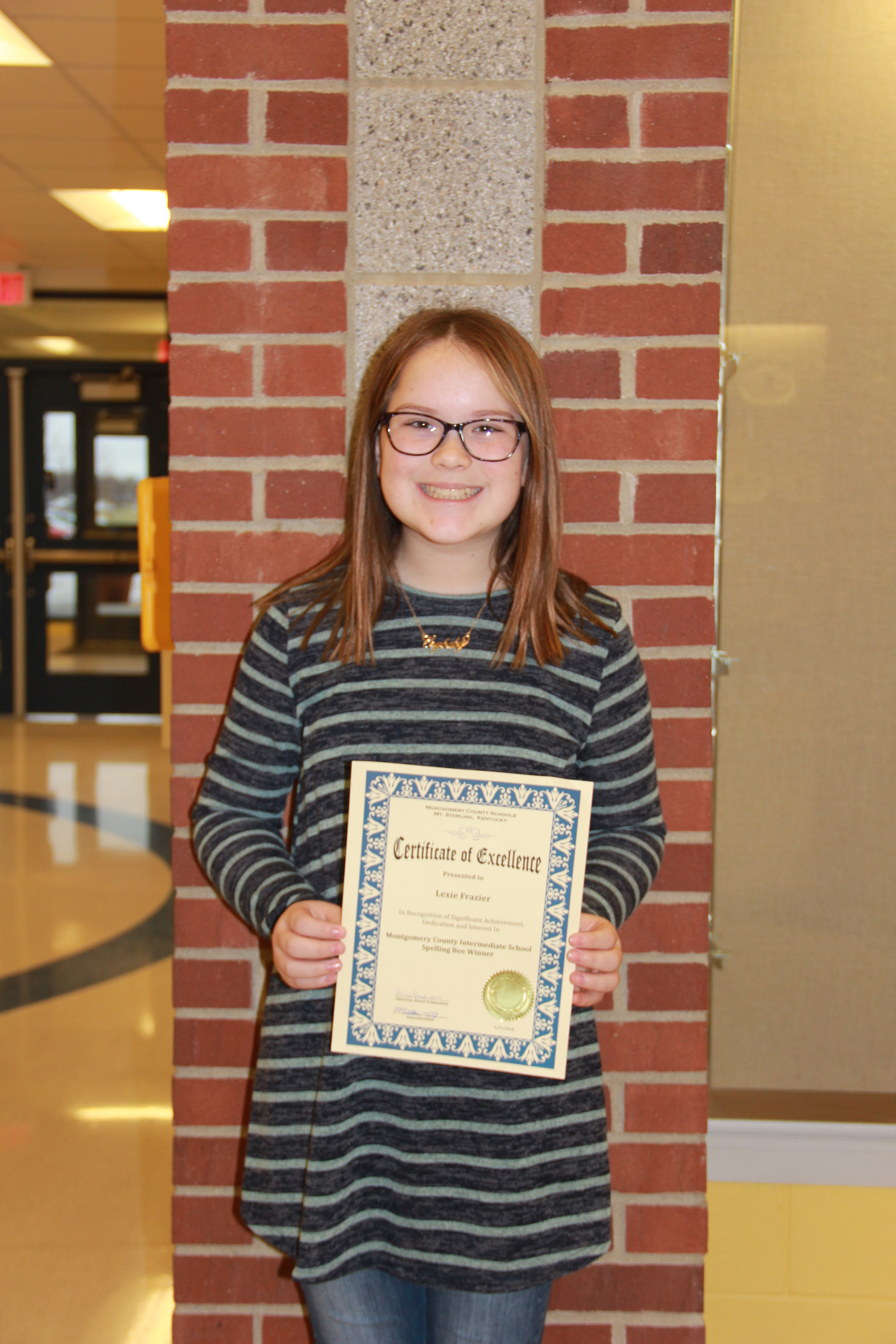 MCIS School Spelling Bee Winner