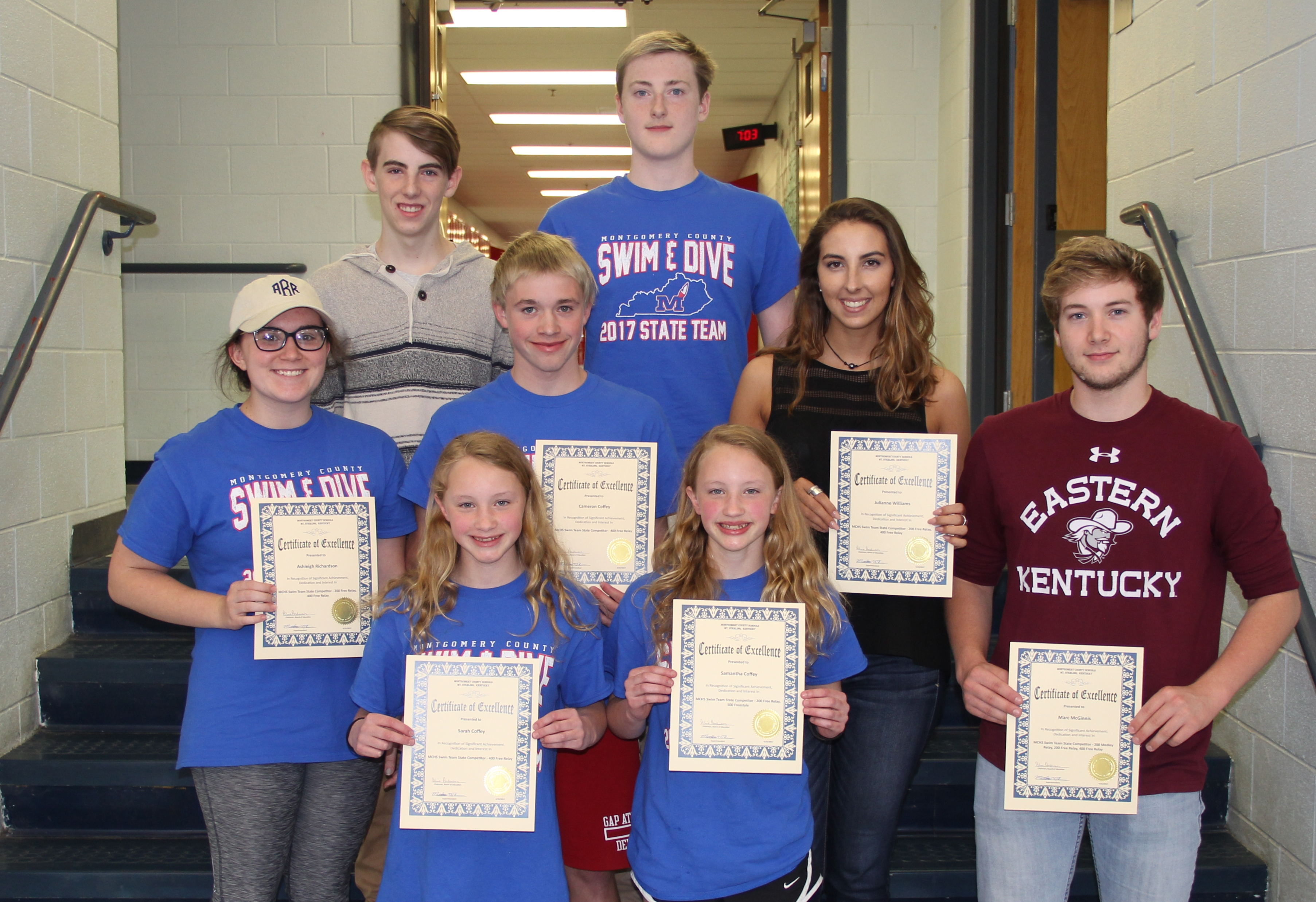 MCHS Swim Team State Competitors