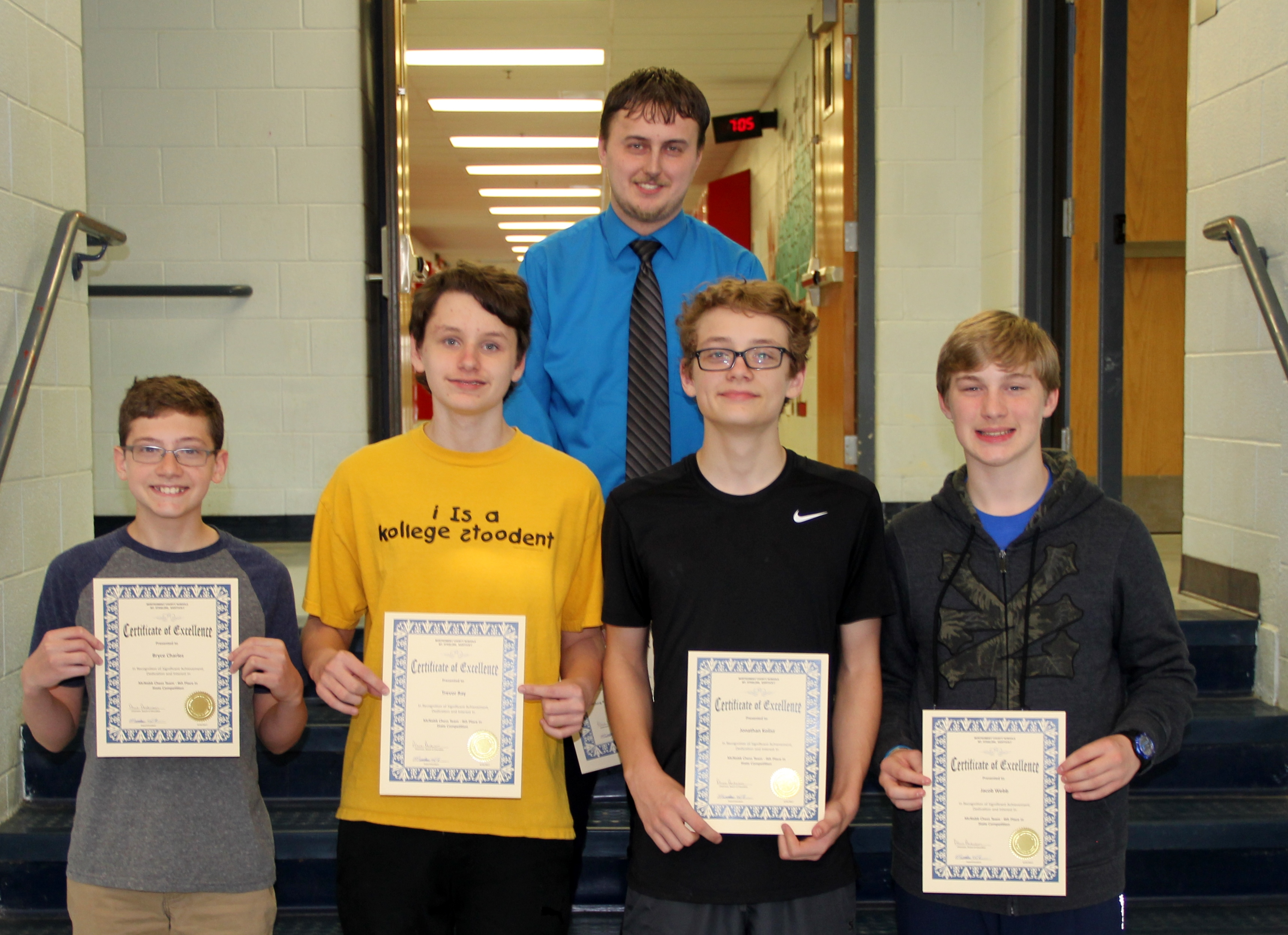 McNabb Chess Team State Competitors