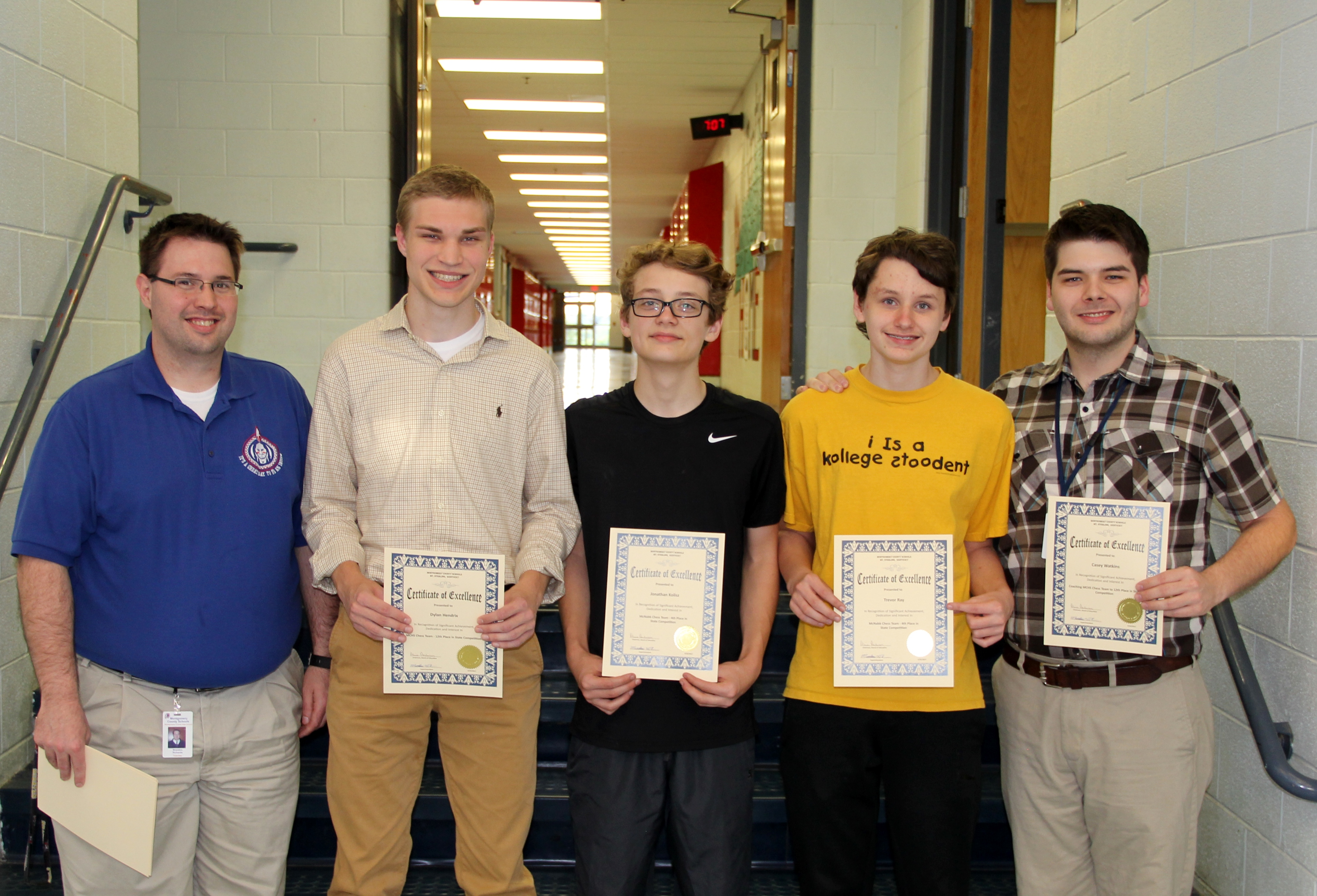 MCHS Chess Team State Competitors