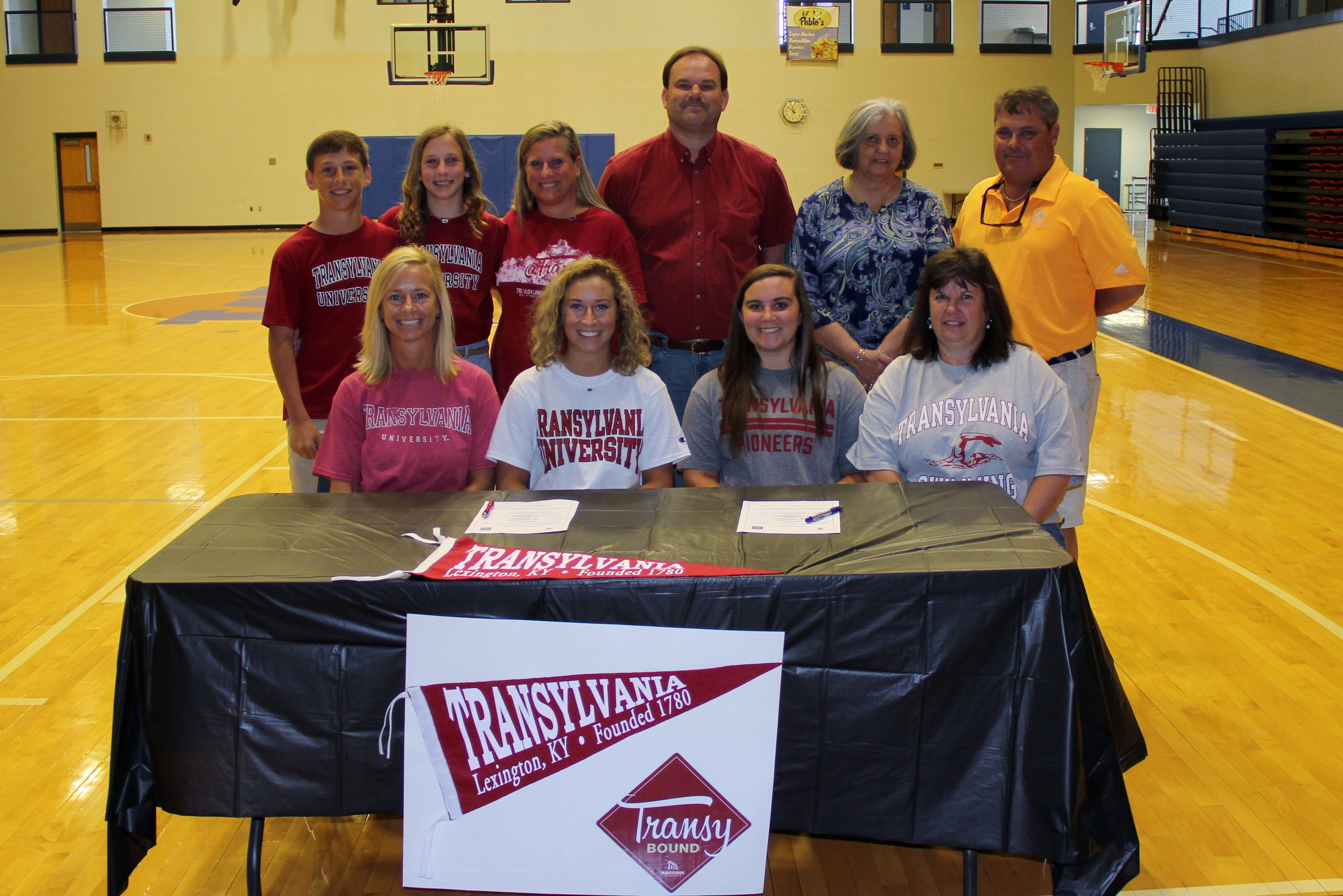 Seniors Benton Patrick and Ashleigh Richardson sign with Transylvania University.