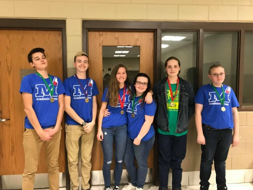 MCHS Acacdemic Team finished 3rd in the district tournament.