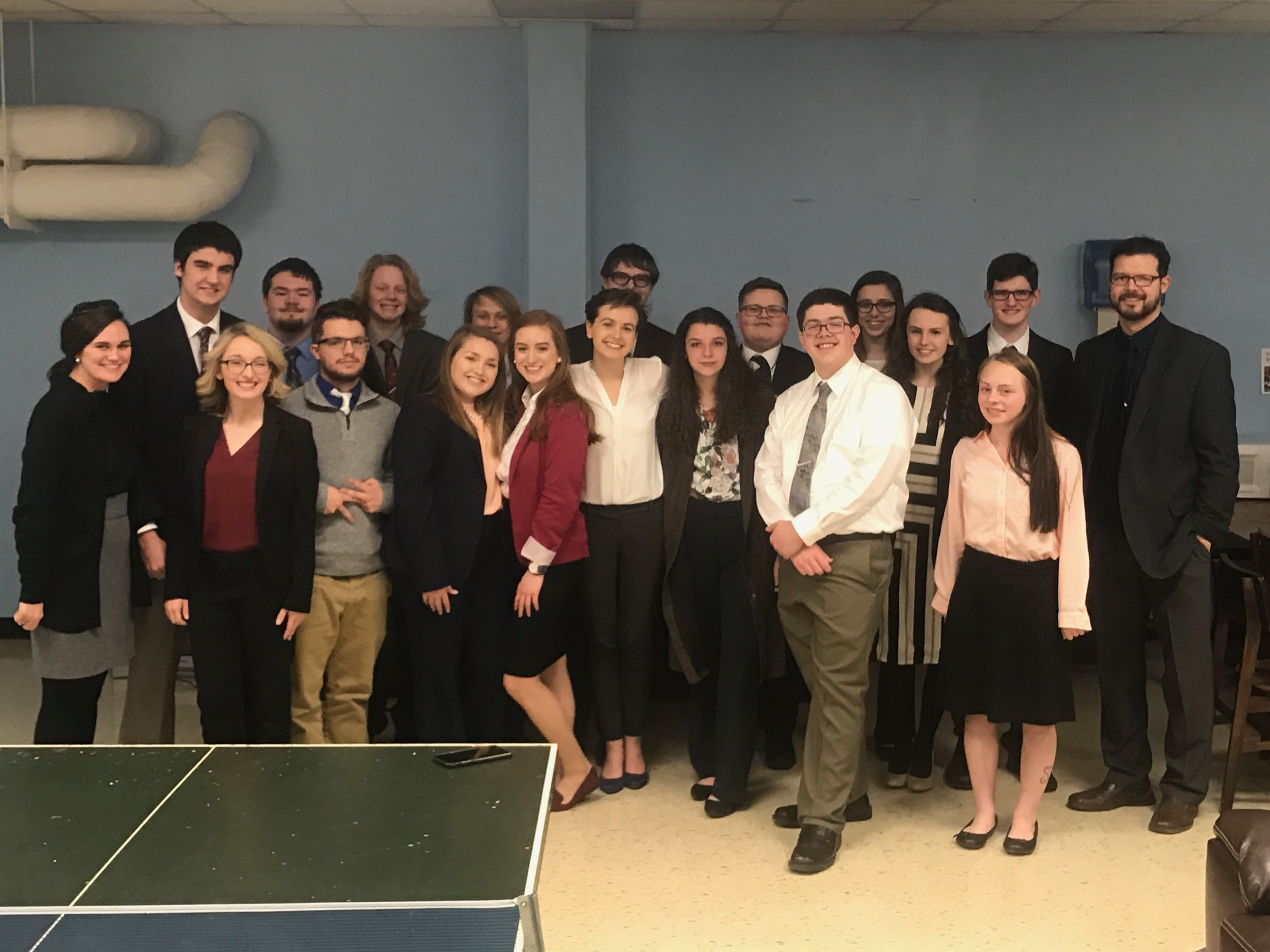 MCHS Mock Trial Team at the UK Invitational Tournament.